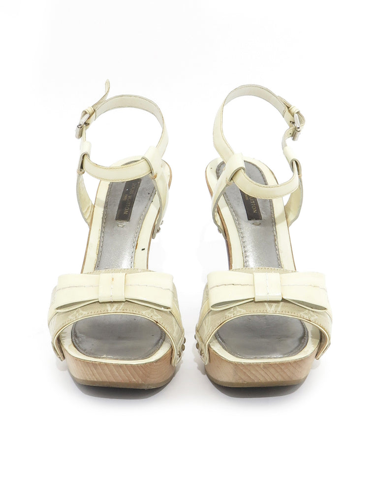 Louis Vuitton Monogram Bow Sandals