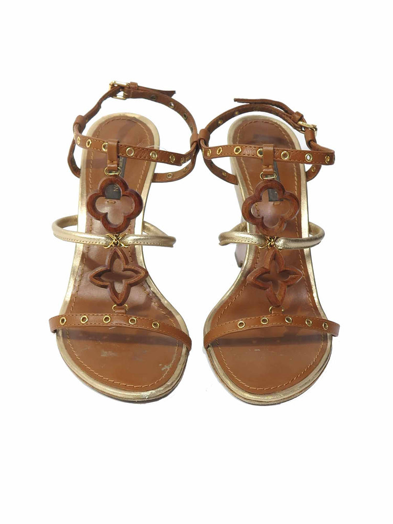 Louis Vuitton Logo Wedge Sandals