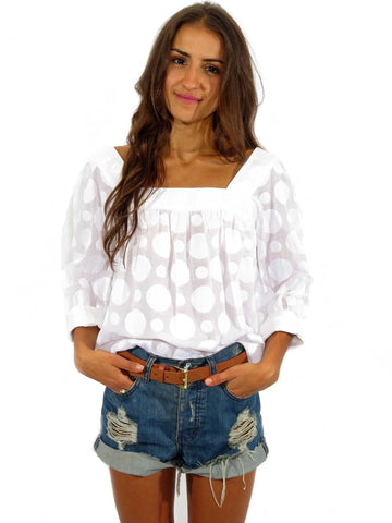 Milly Polka-Dot Blouse