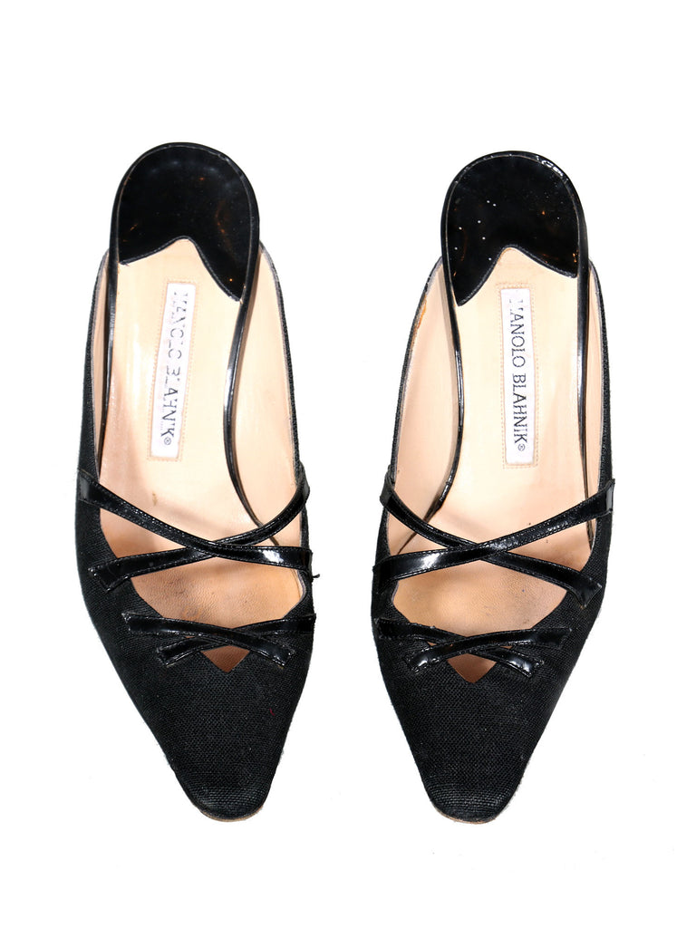 Manolo Blahnik Pointed Strappy Mules