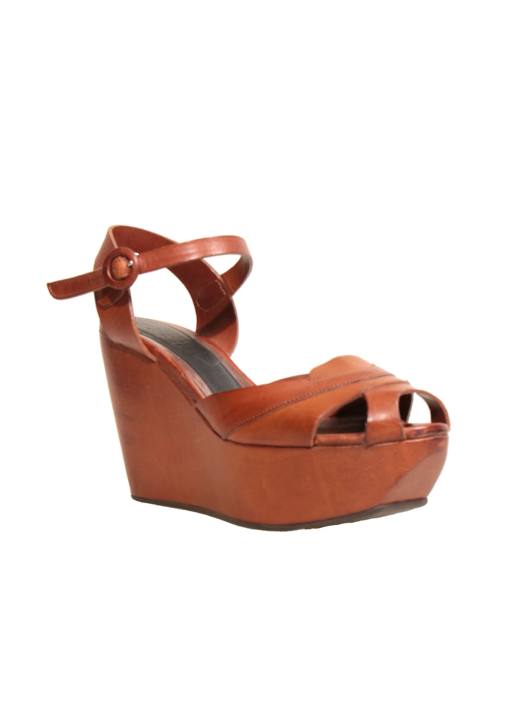 Marni Leather Wedge Sandals