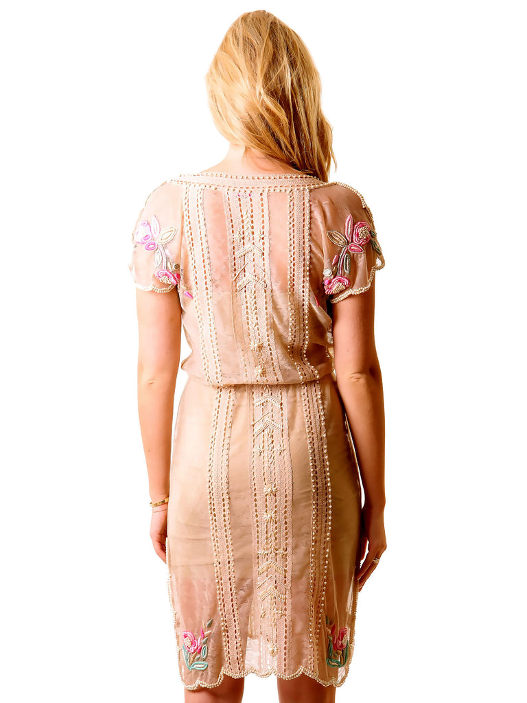 Matthew Williamson Embroidered Beaded Lace Dress