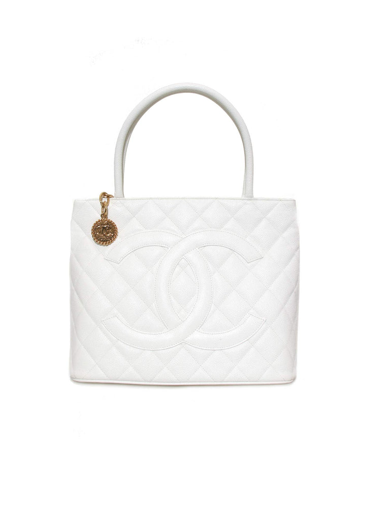 Chanel Caviar Medallion Tote Bag