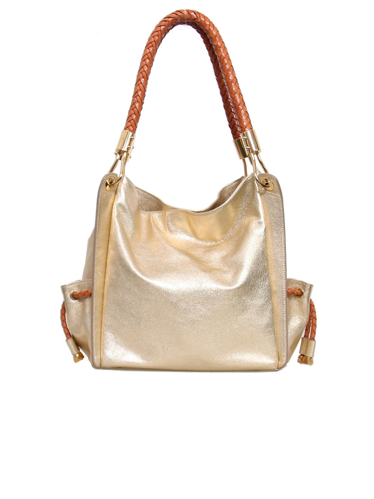 Michael Kors Metallic Leather Shoulder Bag
