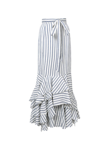 Milly Stripe Tara Maxi Skirt