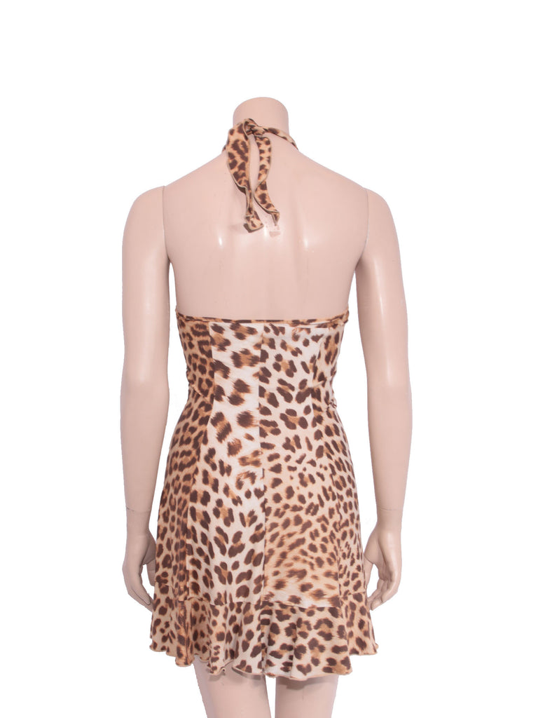Blumarine Silk Leopard Dress