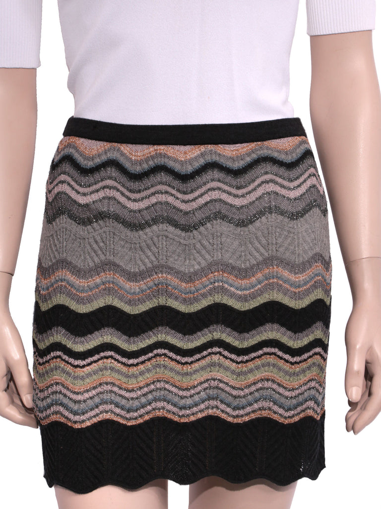 M Missoni Printed Knit Skirt