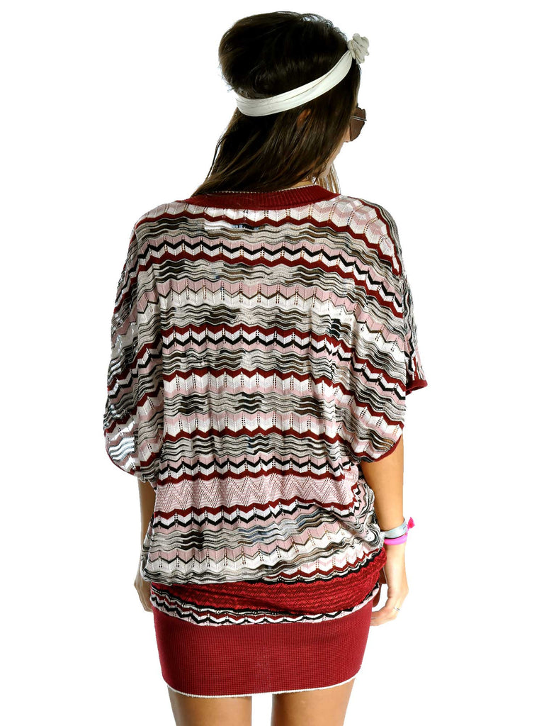 M Missoni Crochet-Knit Tunic