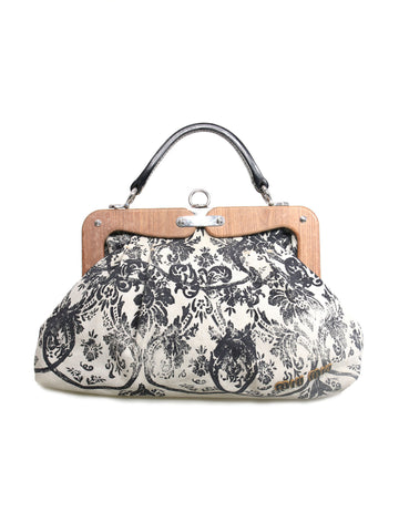 Miu Miu Brocade Canvas Frame Bag