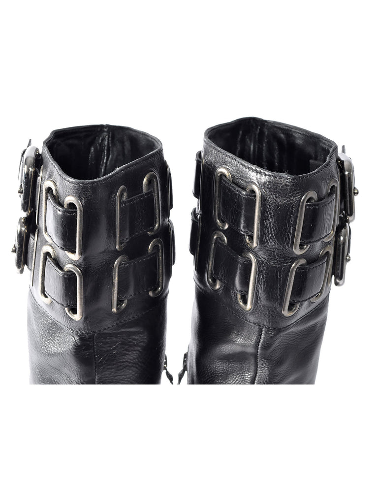 Buckle Flat Boots