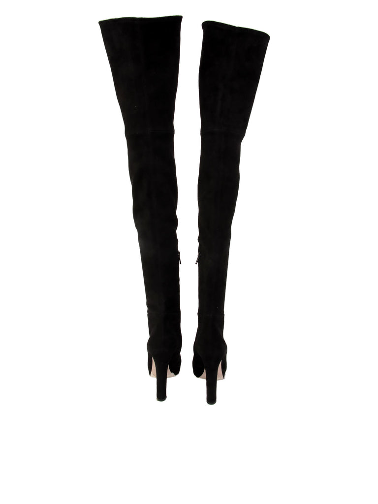 Miu Miu Thigh-High Suede Boots