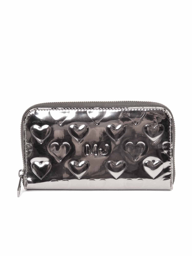 Marc by Marc Jacobs Mirror Heart Zip Around Wallet