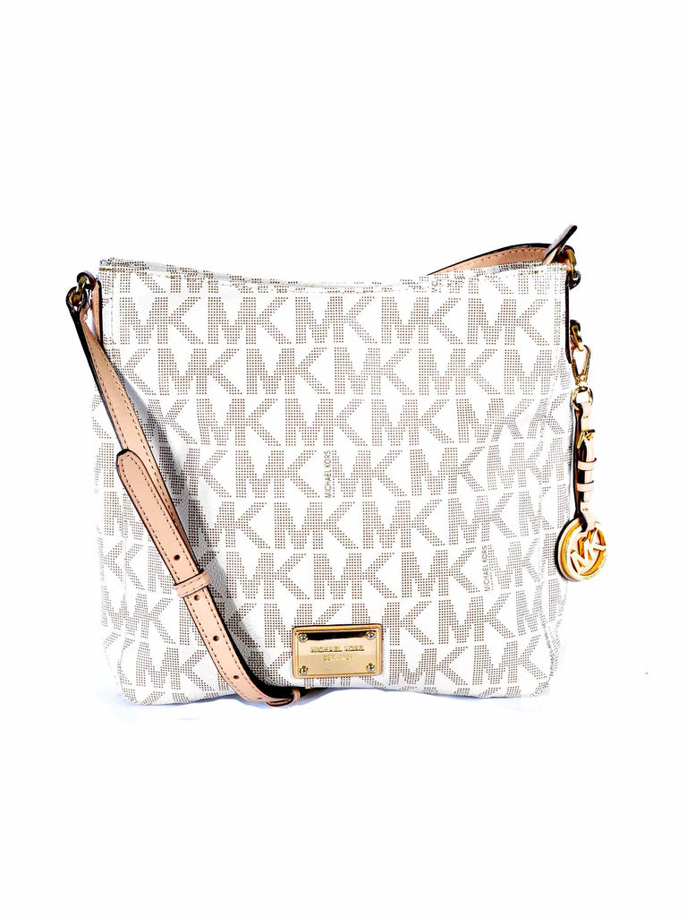MICHAEL Micael Kors Jet Set Large Travel Messenger Logo Bag