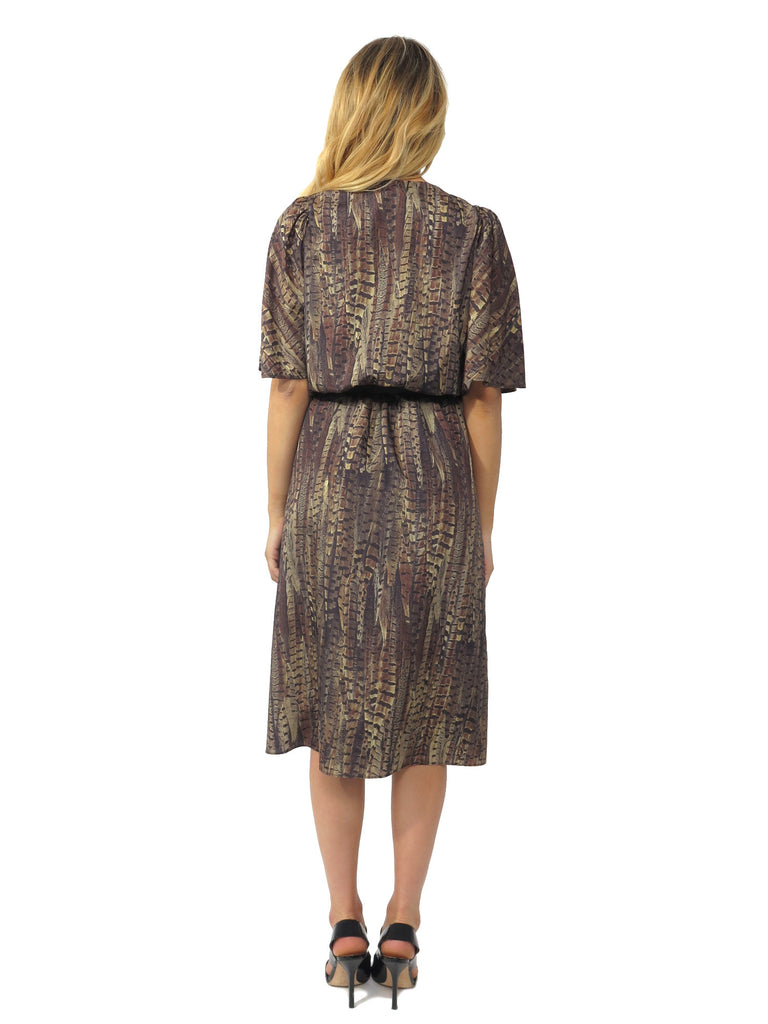 MICHAEL Michael Kors Printed Belted Midi Dress