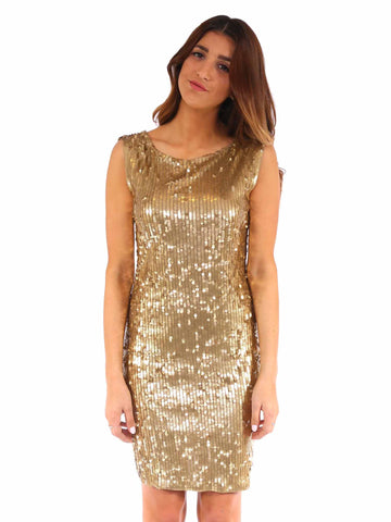 MICHAEL Michael Kors Backless Sequin Dress