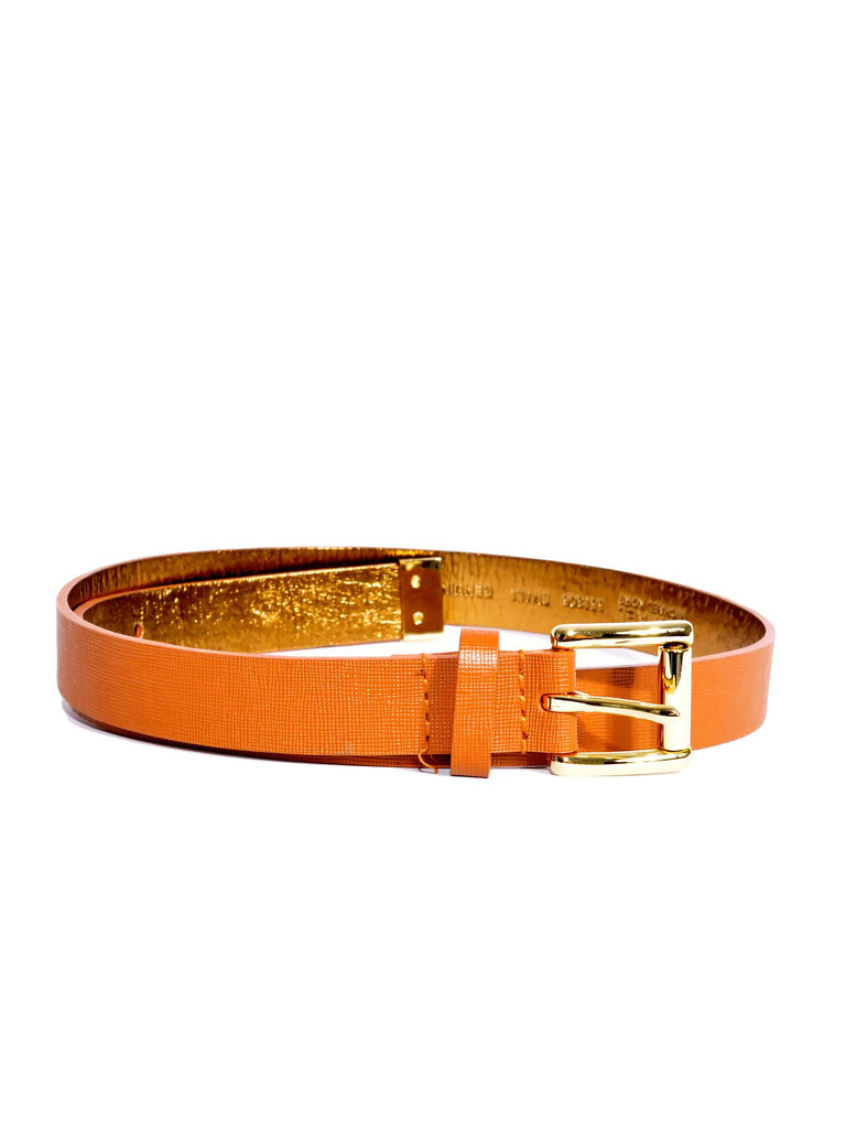 MICHAEL Michael Kors Saffiano Leather Belt