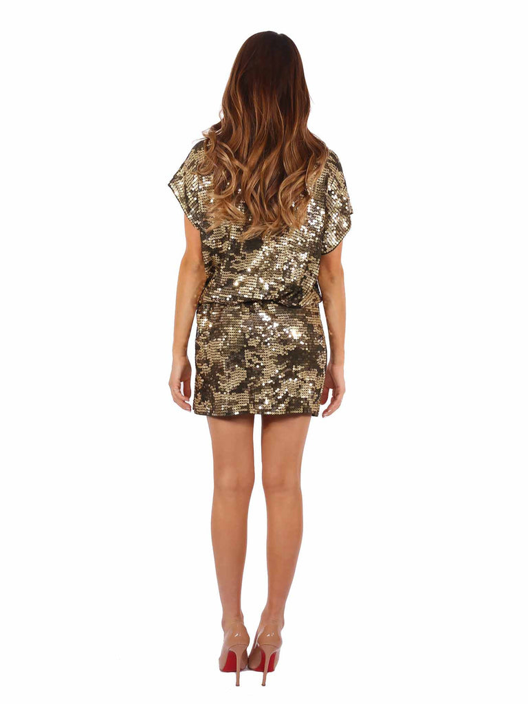 MICHAEL Michael Kors Sequin Camo Dress