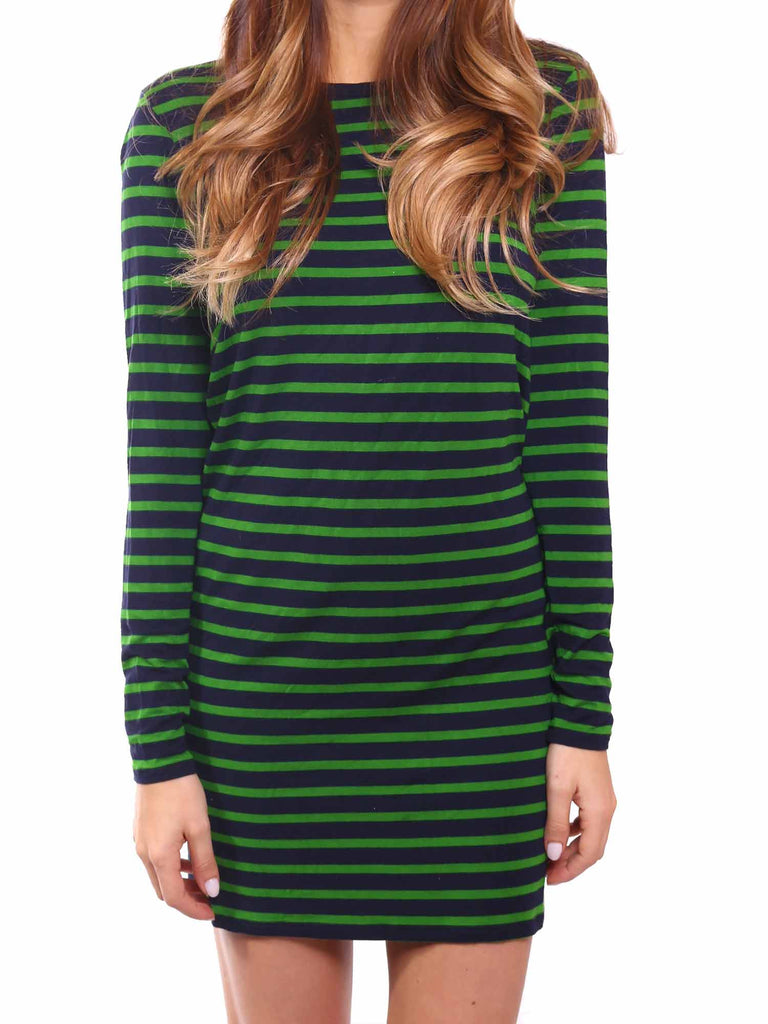 MICHAEL Michael Kors Striped Semi-Fitted Dress