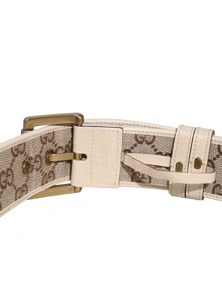 Gucci Monogram Canvas Belt