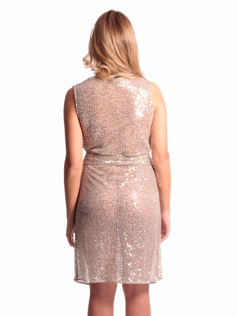Naughty Sequin Wrap Dress