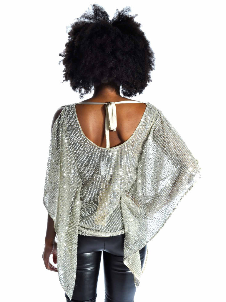Naughty Draped Sequin Top