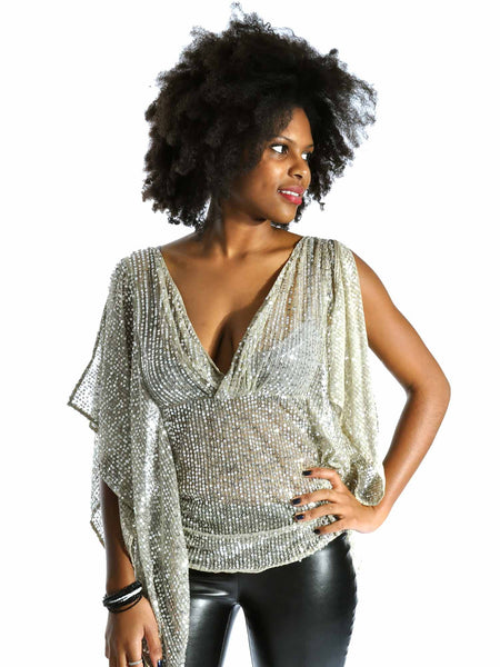 Naughty Draped Sequin Top (now on sale!)