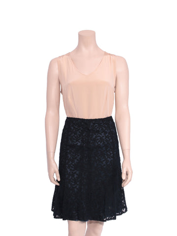 Cynthia Steffe Embroidered Midi Skirt