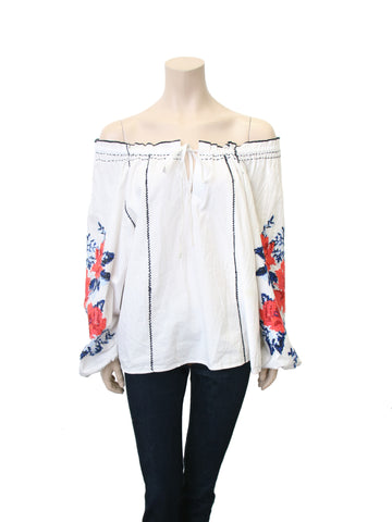 Parker Off-Shoulder Embroidered Top