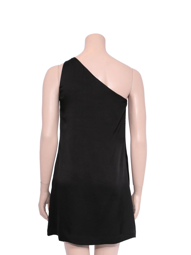 Halston Heritage Silk One-Shoulder Dress