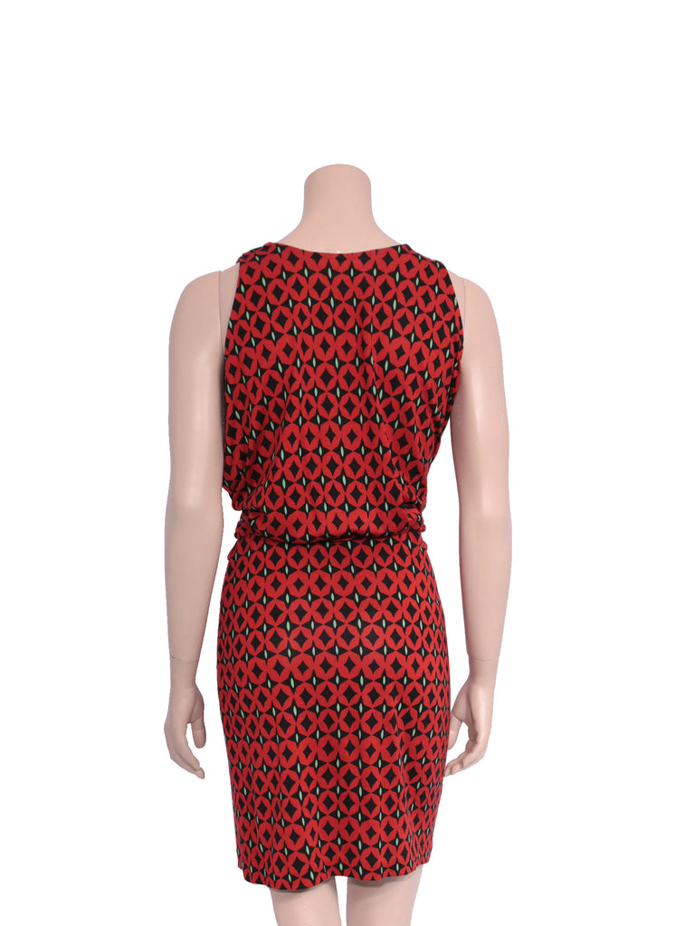 DVF Printed Cowl-Neck Dress