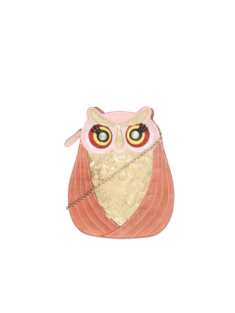 Embellished Owl Bag