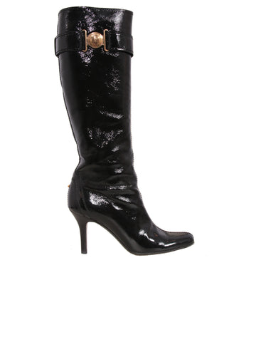 Gucci Hysteria Patent Leather Boots