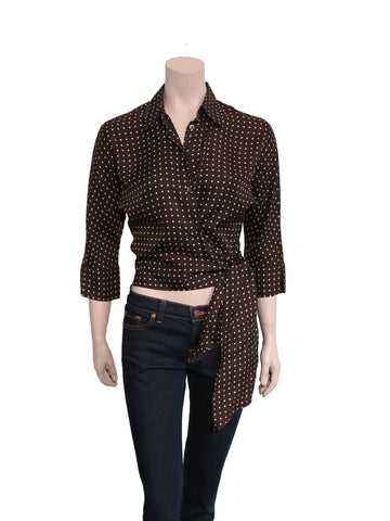 MaxMara Silk Polka Dot Top