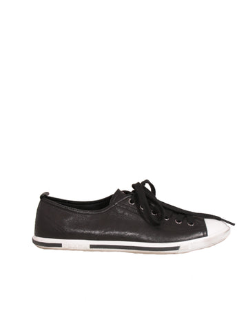 Prada Leather Lace-Up Sneakers