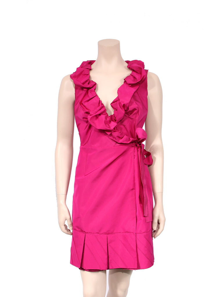 Prada Ruffle Wrap Dress