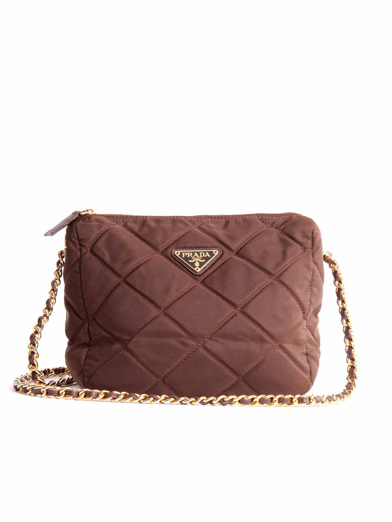 cdea6642b2b4 Pre-owned Prada Quilted Chain Shoulder Bag