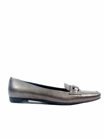 Prada Metallic Loafers