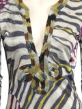Emilio Pucci Printed Beaded Tunic