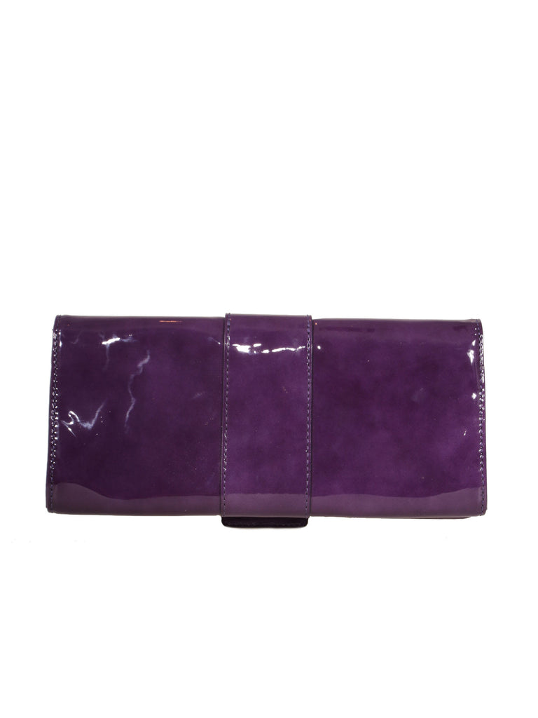 Michael Kors Patent Leather Buckle Clutch Bag