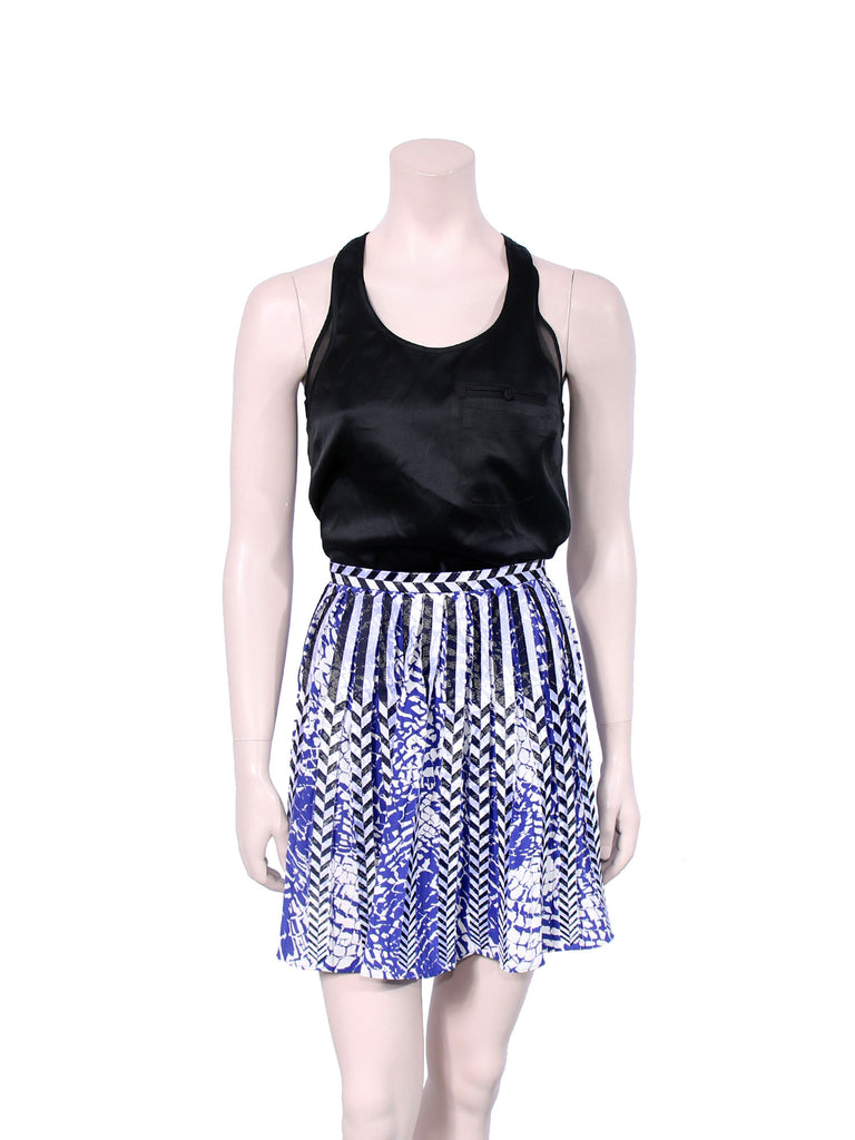 Parker Printed Pleated Skirt