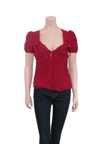 Emanuel Ungaro Silk Bow Top