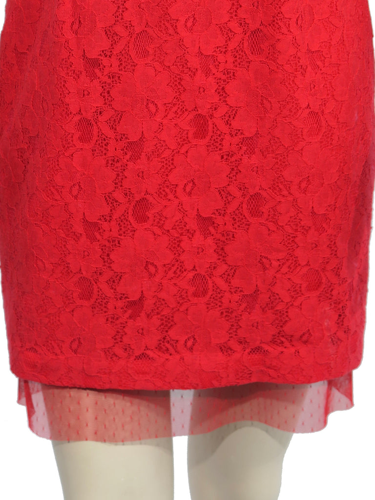 BCBG MaxAzria Roselle Fitted Strapless Lace Dress