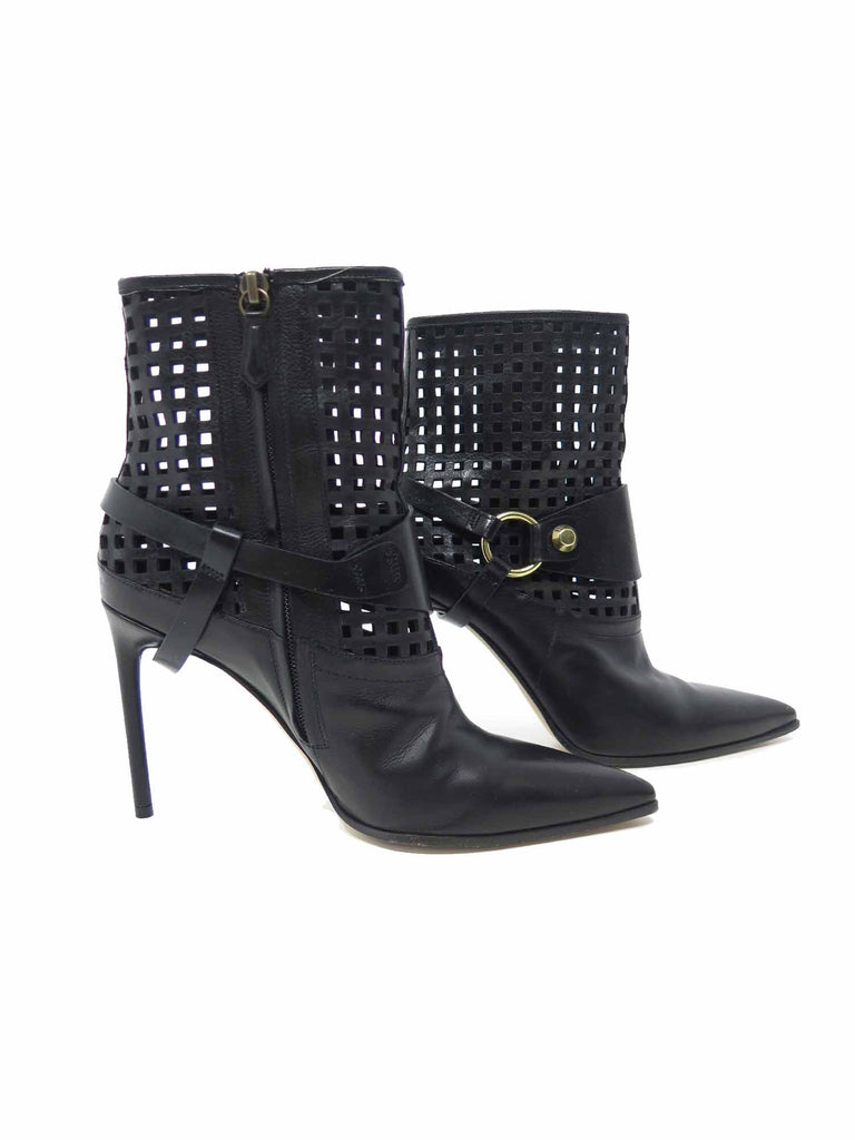 Reed Krakoff Cage Leather Pointed Booties