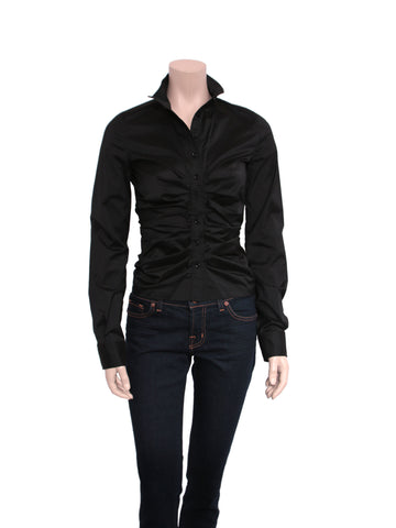 Givenchy Ruched Button-Down Shirt