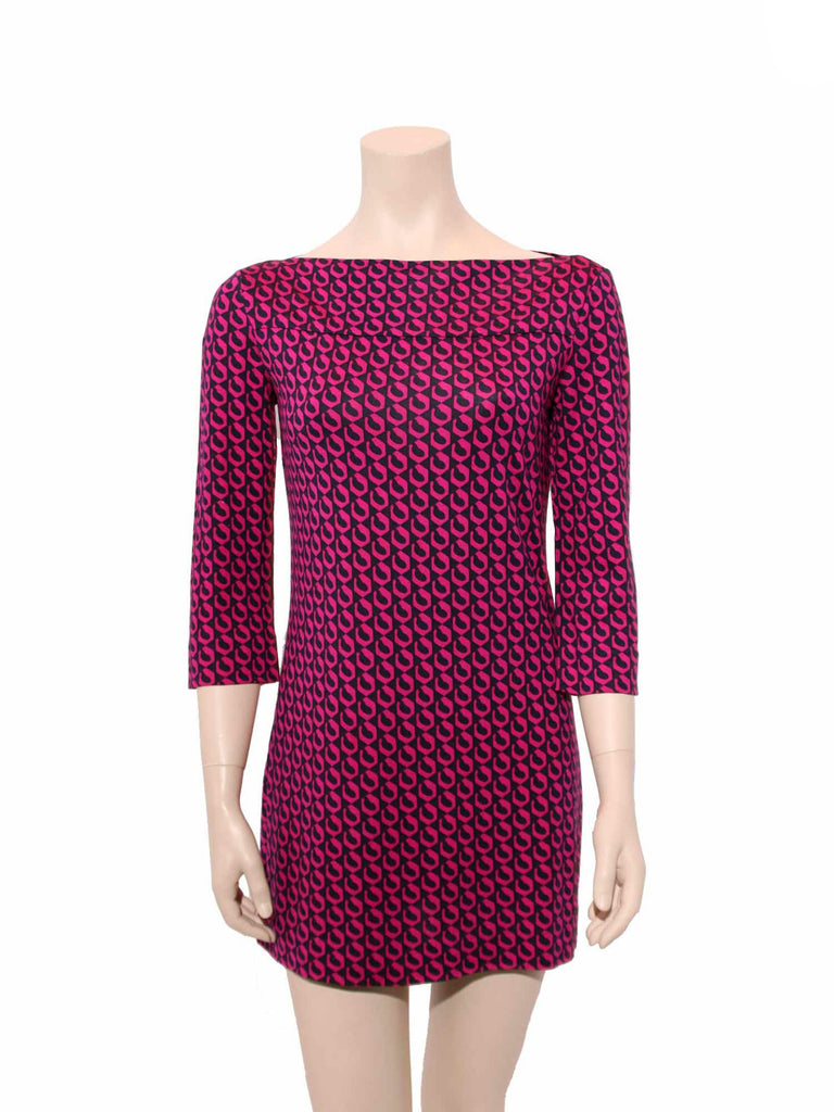 Diane von Furstenberg Ruri Silk Jersey Printed Shift Dress