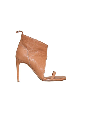 Rick Owens Open-Toe Leather Booties