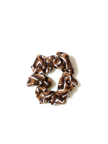 Recycled Fendi Fabric Scrunchie