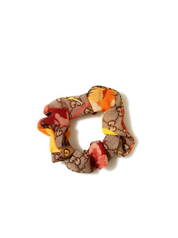 Recycled Gucci Fabric Scrunchie
