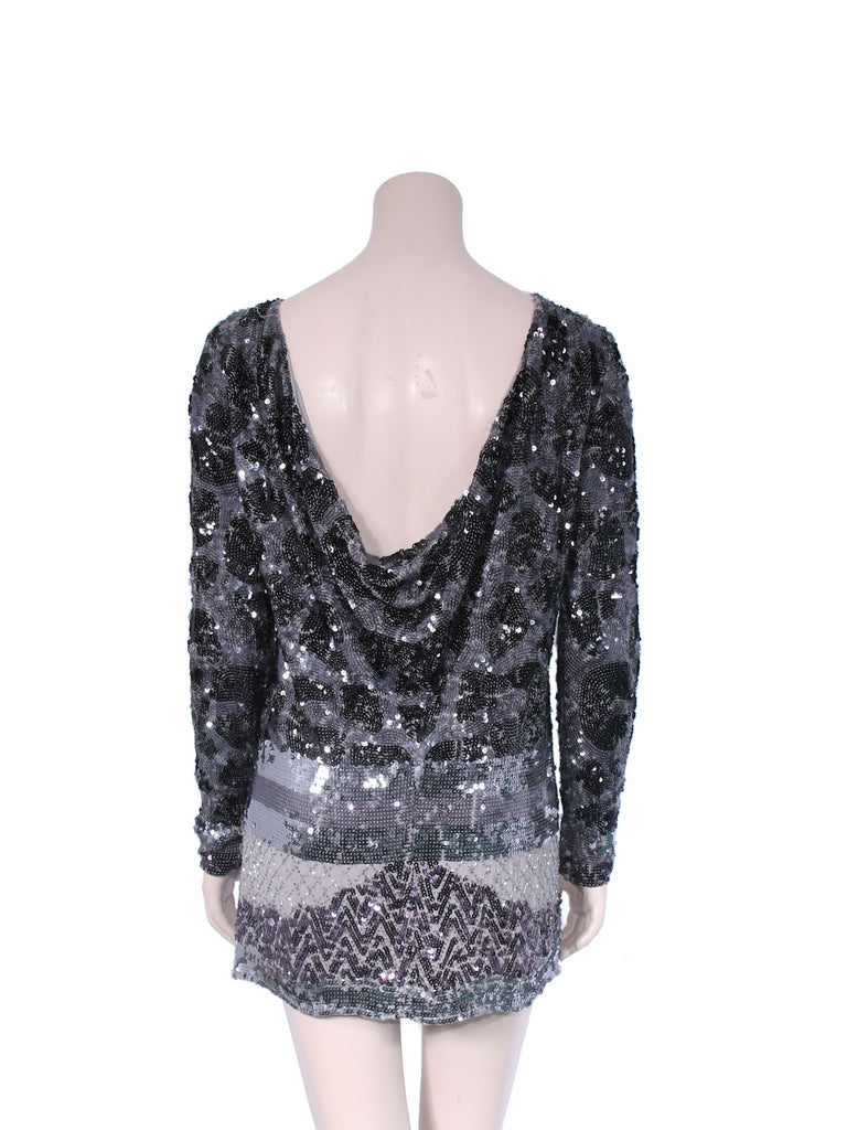BCBG MaxAzria Sequin Silk Dress