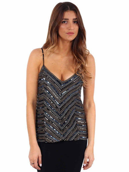 Torn by Ronny Kobo Sequin Tank